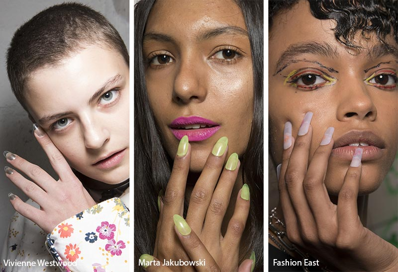 Spring/ Summer 2019 Nail Trends: Clear Press-on Nails