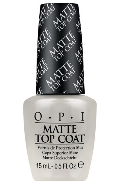 Best Matte Nail Polish Colors & Matte Top Coats: OPI Matte Top Coat