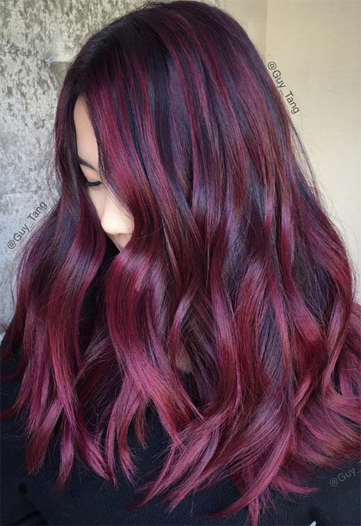 63 Yummy Burgundy Hair Color Ideas: Burgundy Hair Dye Tips & Tricks