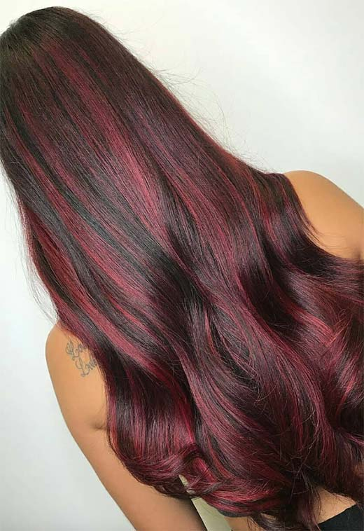 63 Yummy Burgundy Hair Color Ideas (Burgundy Hair Dye)