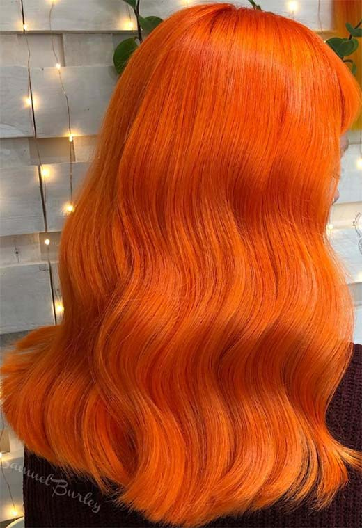 59 Fiery Orange Hair Color Shades Orange Hair Dyeing Tips