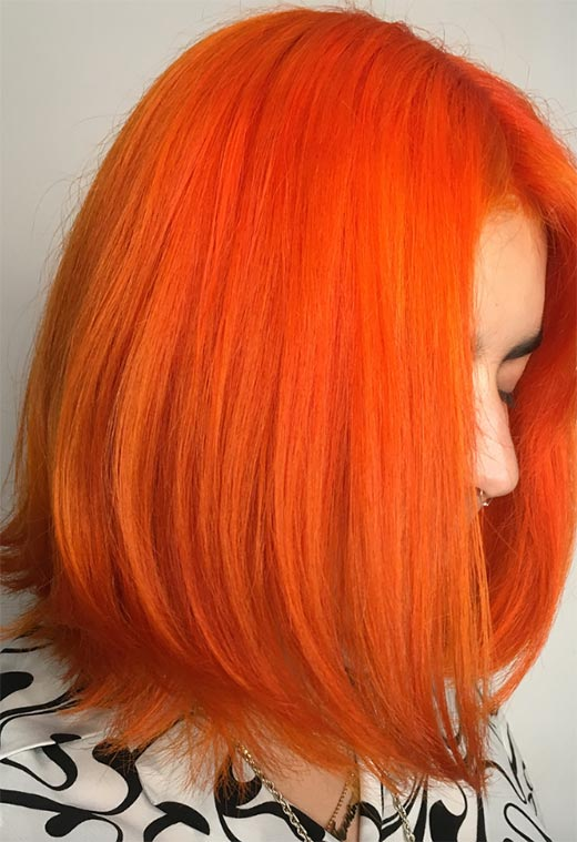 How to Dye Your Hair Orange at Home