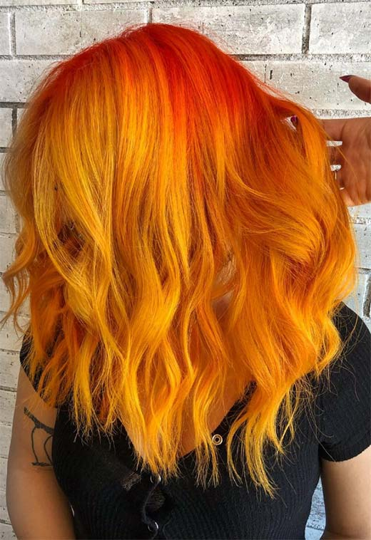 Orange Hair Color Shades: Orange Hair Dye Tips