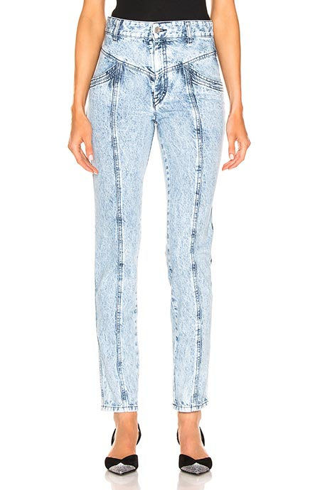 Best High Waisted Jeans: Isabel Marant Acid-Wash High Waisted Jeans