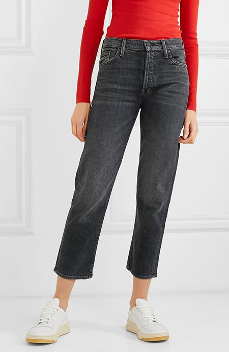 Best High Waisted Jeans: Mother The Tomcat Black High Waisted Jeans