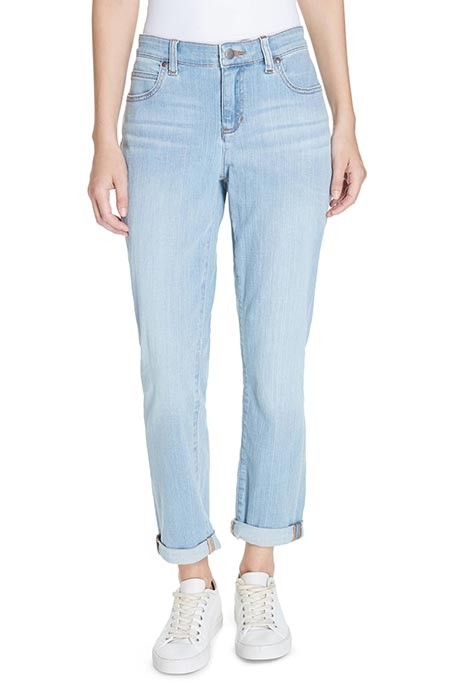Best High Waisted Jeans: Eileen Fisher High Waisted Boyfriend Jeans