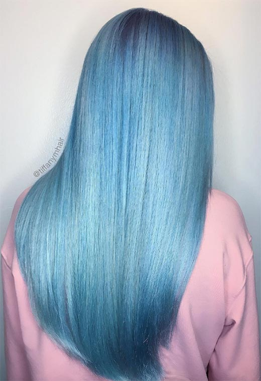 65 Iridescent Blue Hair Color Shades Amp Blue Hair Dye Tips