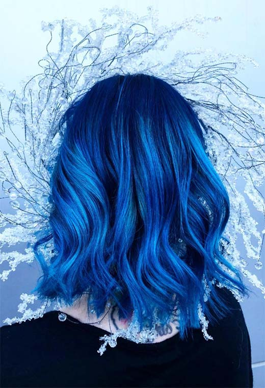 How to Color Hair Blue at Home
