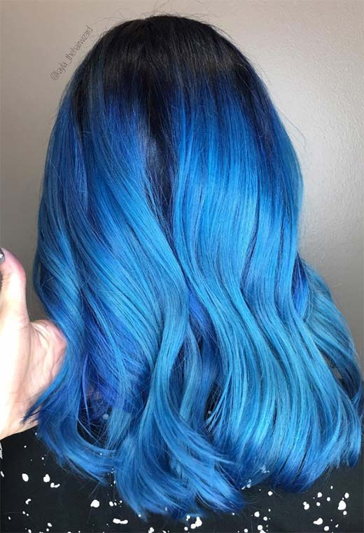 How to Dye Hair Blue at Home