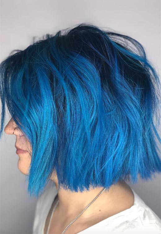How to Maintain Blue Hair Color