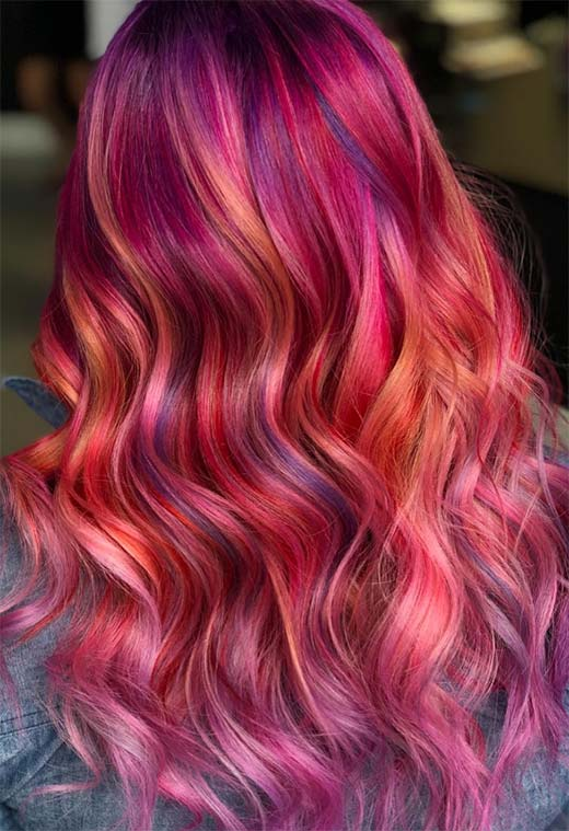 How to Maintain Sunset Hair Color