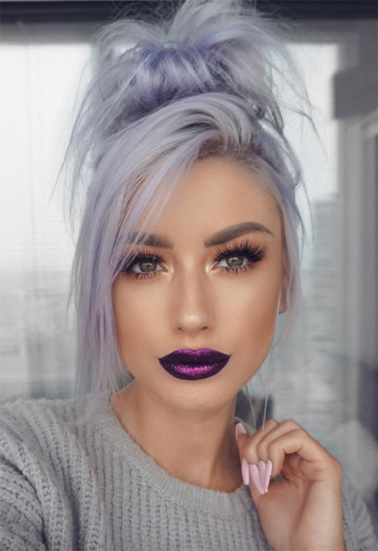 Purple Lips Makeup Tips