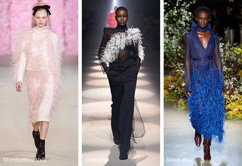 Fall/ Winter 2020-2021 Fashion Trends: Feather Touches