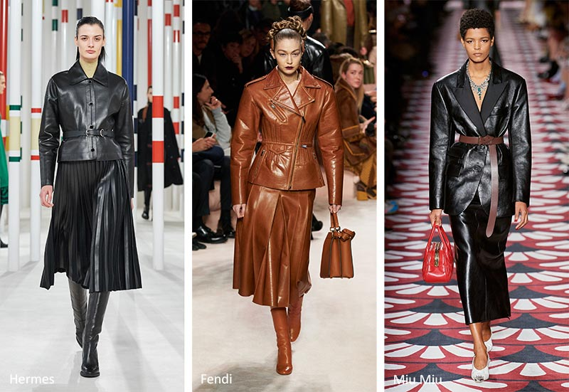 Fall/ Winter 2020-2021 Fashion Trends: Leather Suits