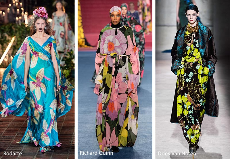 Fall/ Winter 2020-2021 Print Trends: Big Floral Patterns