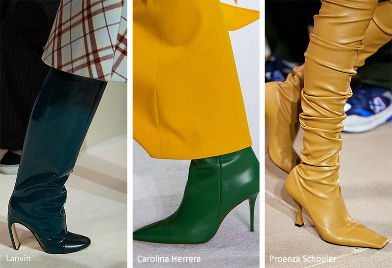 Fall/ Winter 2020-2021 Shoe Trends: Colorful Leather Boots