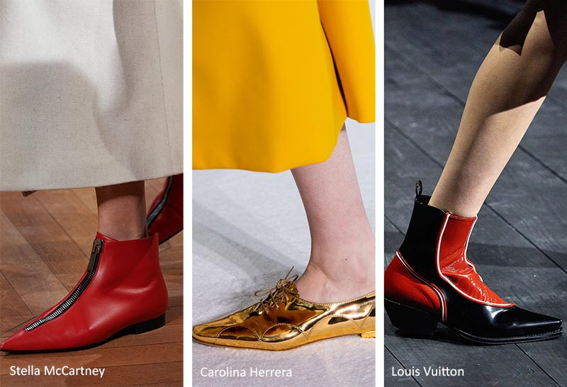 Fall/ Winter 2020-2021 Shoe Trends: Pointed-Toe Flat Shoes