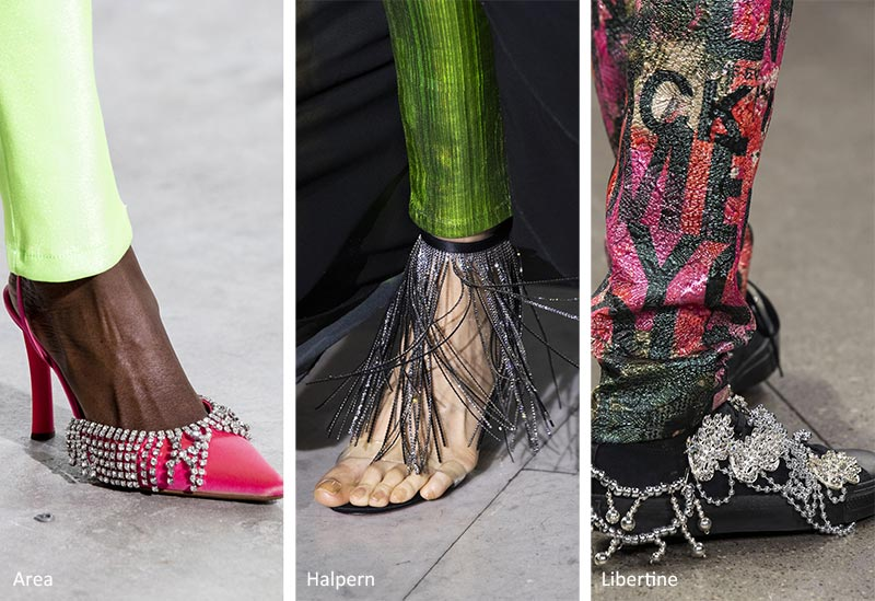Fall/ Winter 2020-2021 Shoe Trends: Shoes with Blingy Fringe