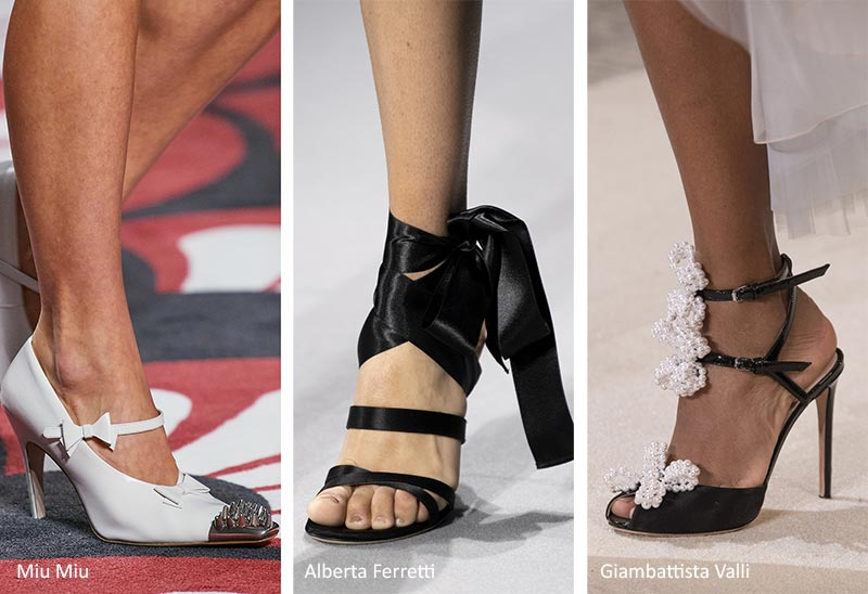 Fall/ Winter 2020-2021 Shoe Trends: Shoes with Bows & Ribbons