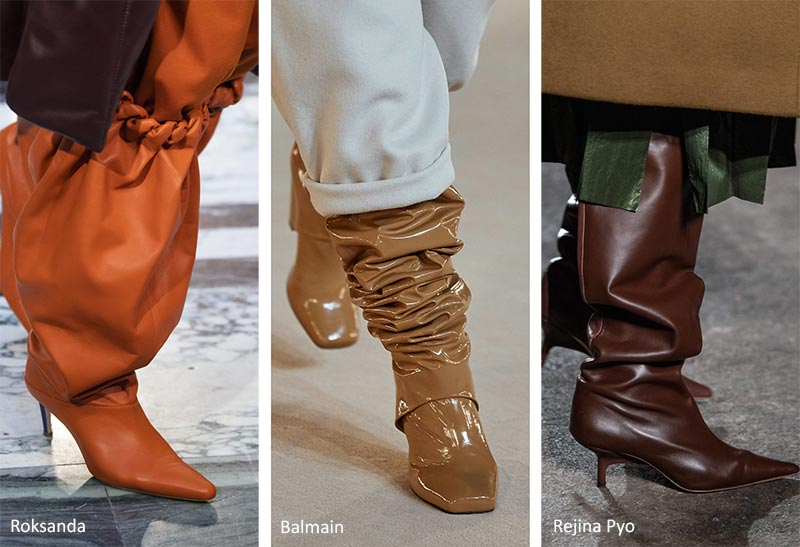 Fall/ Winter 2020-2021 Shoe Trends: Wrinkled Shaft Boots