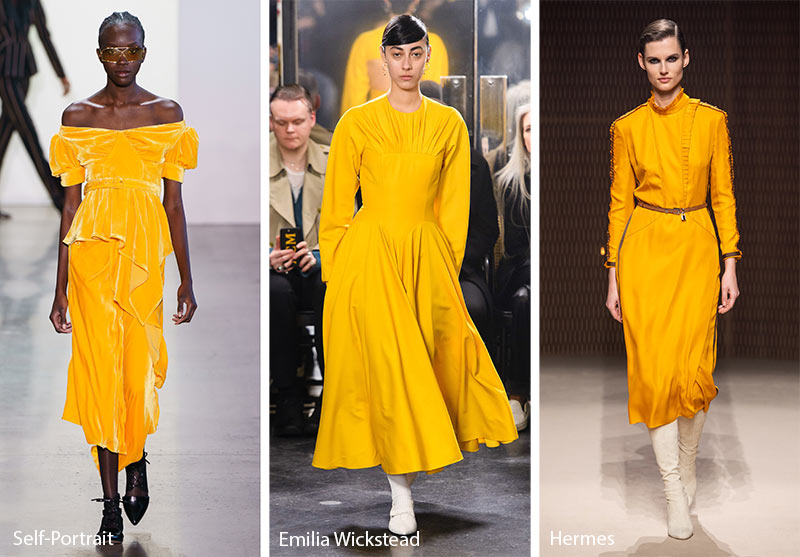 Fall/ Winter 2019-2020 Color Trends: Butterscotch Yellow