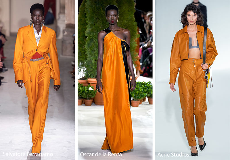 Fall/ Winter 2019-2020 Color Trends: Dark Cheddar Yellow Orange