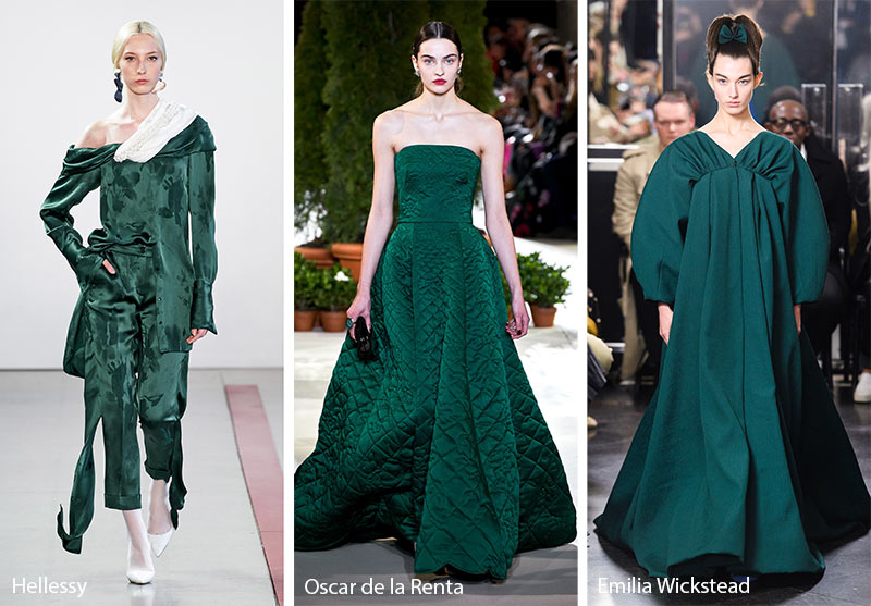 Fall/ Winter 2019-2020 Color Trends: Forest Biome Green