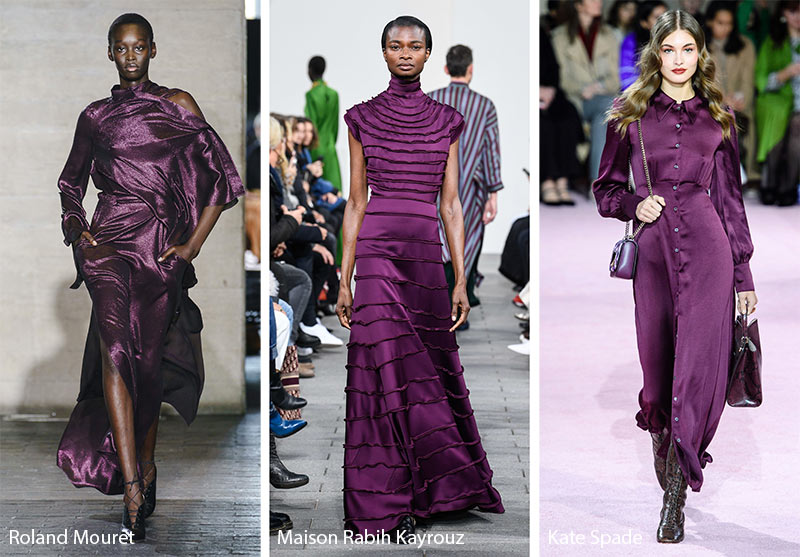 Fall/ Winter 2019-2020 Color Trends: Tyrian Purple