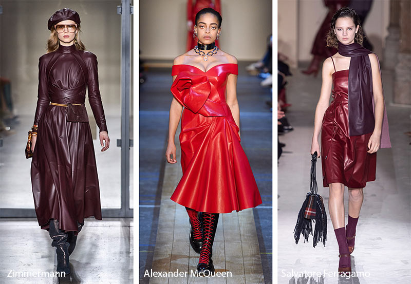 Fall/ Winter 2019-2020 Fashion Trends: Leather Dresses