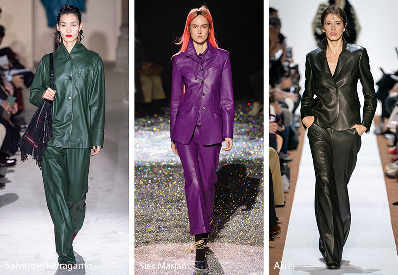Fall/ Winter 2019-2020 Fashion Trends: Leather Suits