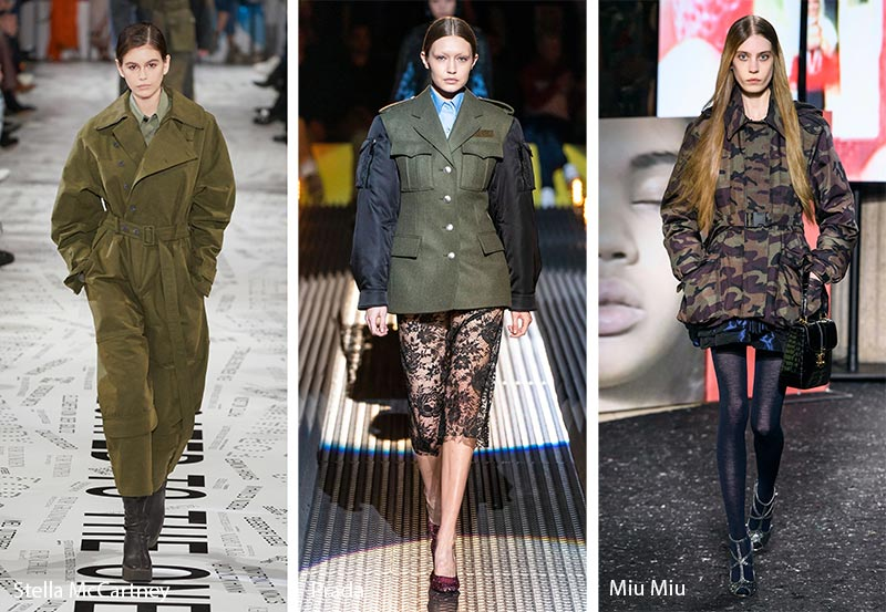 Fall/ Winter 2019-2020 Fashion Trends: Military Fashion