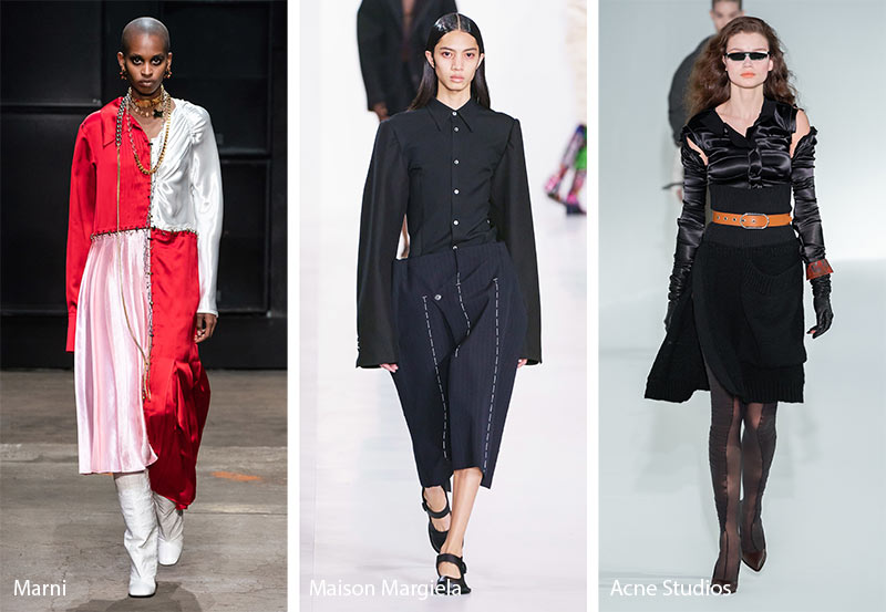 Fall/ Winter 2019-2020 Fashion Trends: Undone & Deconstructed Clothing