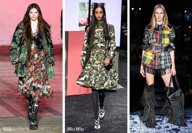 Fall/ Winter 2019-2020 Print Trends: Camouflage Patterns