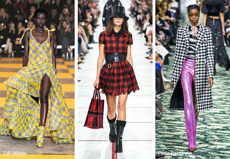 Fall/ Winter 2019-2020 Print Trends: Chequered & Gingham Patterns