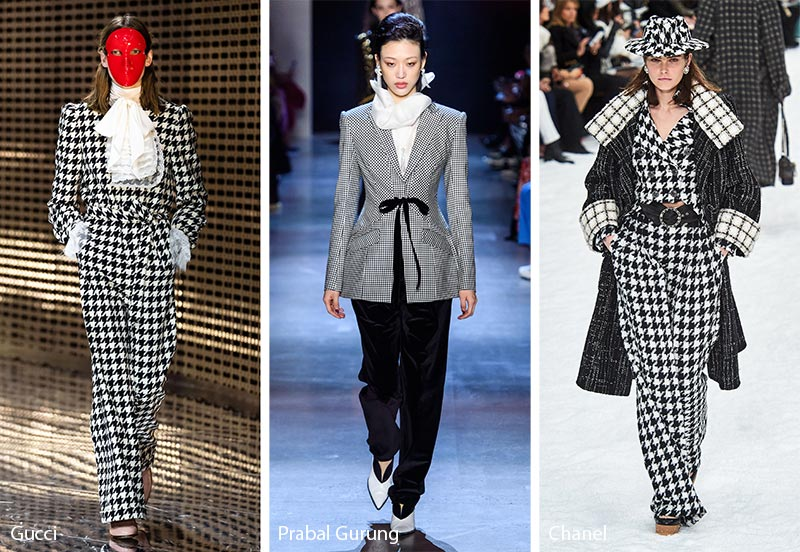 Fall/ Winter 2019-2020 Print Trends: Houndstooth Patterns