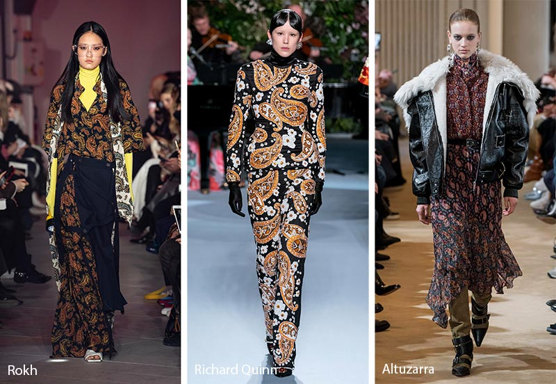 Fall/ Winter 2019-2020 Print Trends: Paisley Patterns
