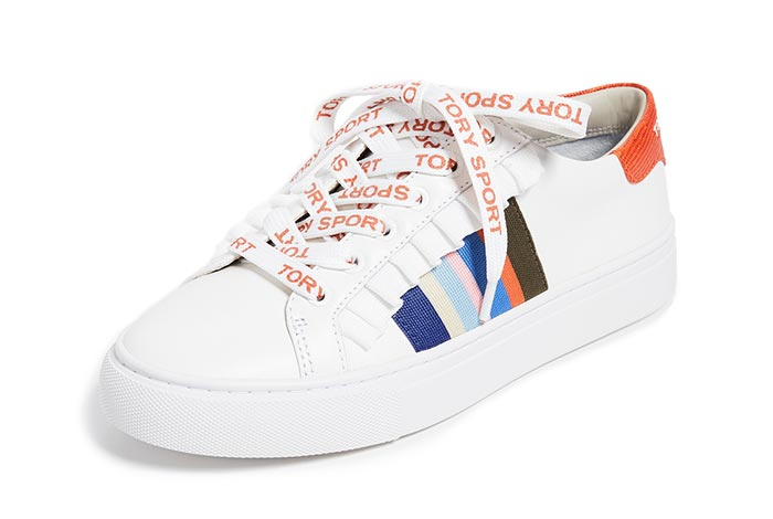 Best White Sneakers for Women: Tory Sport White Trainers