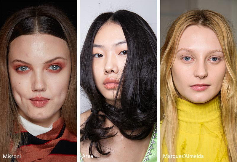 Fall/ Winter 2020-2021 Hairstyle Trends: Middle Part Hairstyles