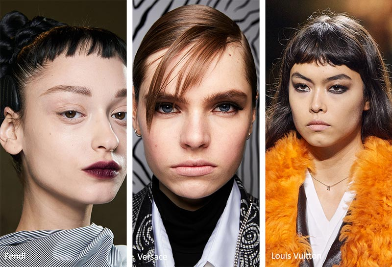 Fall/ Winter 2020-2021 Hairstyle Trends: Piecey, Choppy Bangs