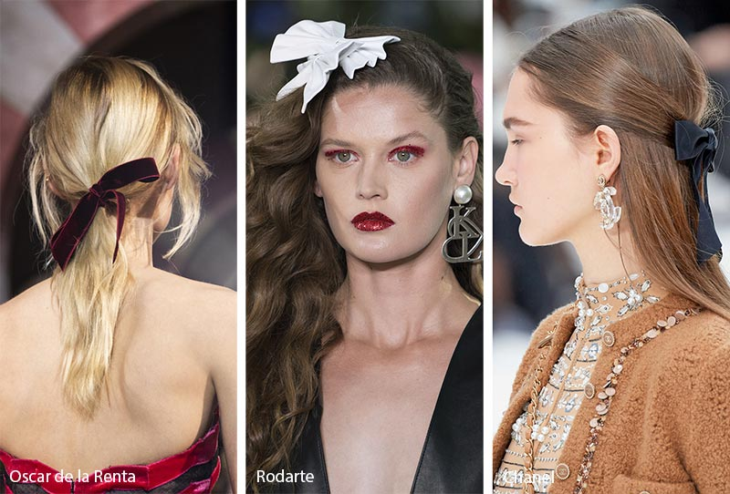 Fall/ Winter 2019-2020 Hair Accessory Trends: Bow Hair Accessories