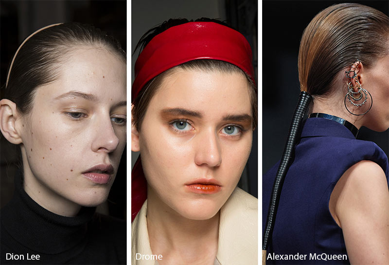 Fall/ Winter 2019-2020 Hair Accessory Trends: Leather Hair Accessories