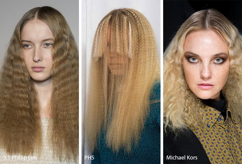 Fall/ Winter 2019-2020 Hairstyle Trends: Crimped Hair