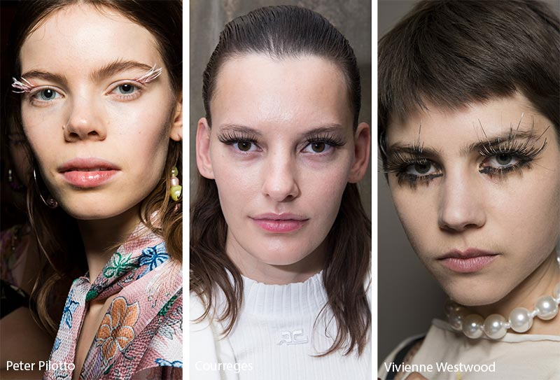 Fall/ Winter 2019-2020 Makeup Trends: High-Fashion False Eyelashes