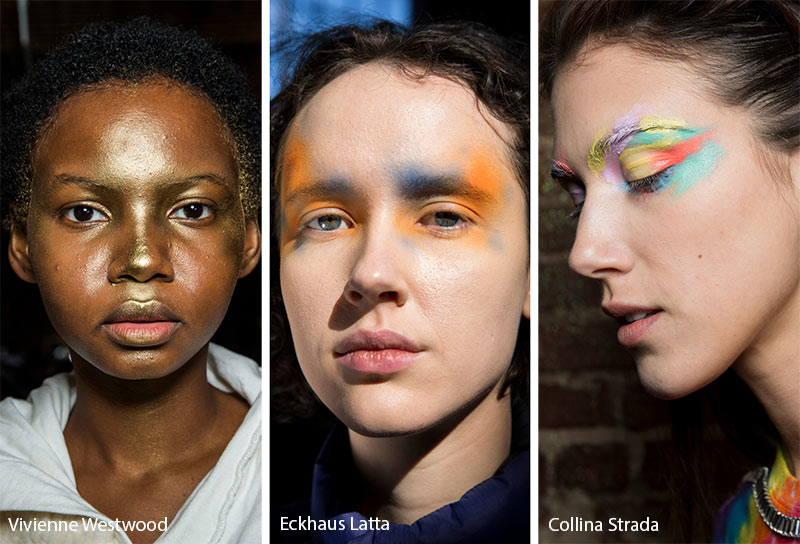 Fall/ Winter 2019-2020 Makeup Trends: Splashes of Makeup on the Face