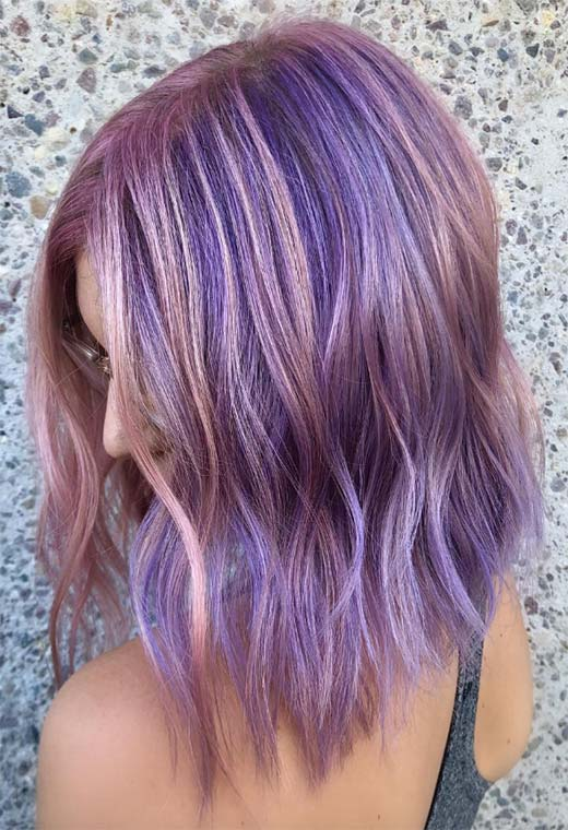 Makeup for Lavender Hair Color