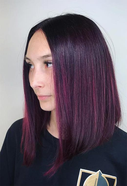 Makeup Tips for Plum Hair Color