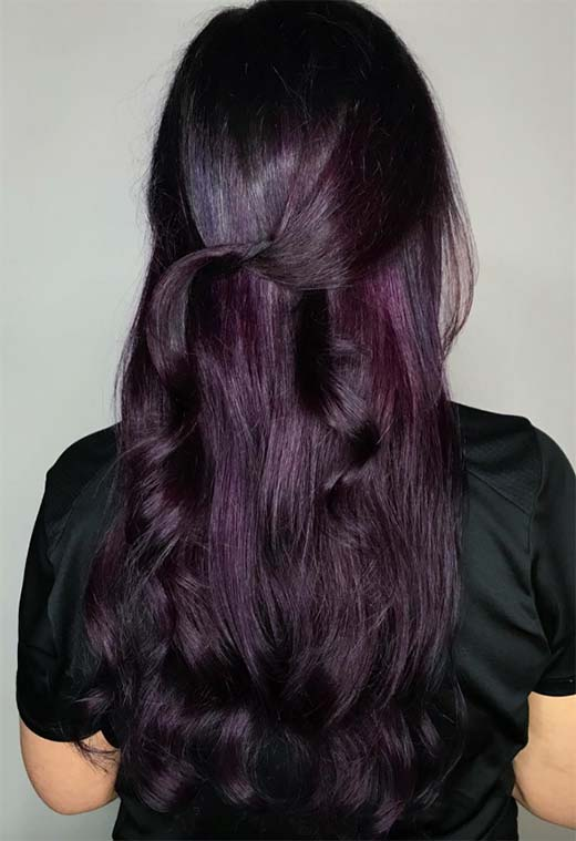 Plum Hair Color Shades: Plum Hair Dye Tips