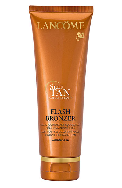 Best Leg & Body Makeup Products: Lancôme Flash Bronzer Tinted Self-Tanning Gel with Pure Vitamin E