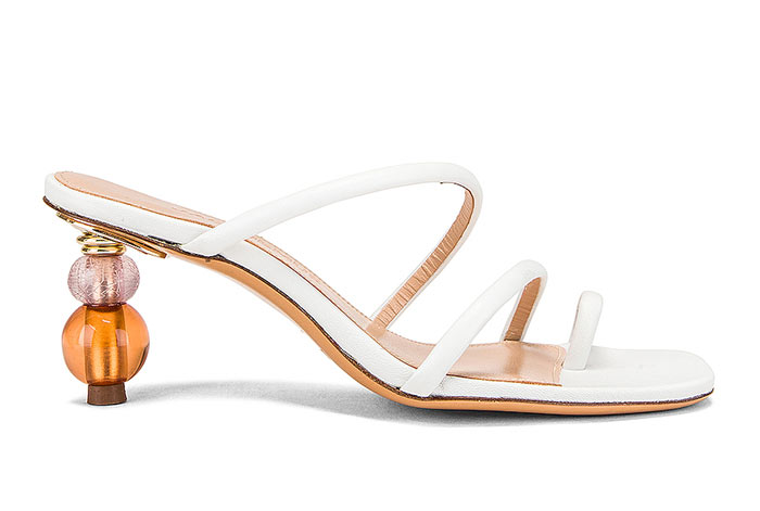 Best White Shoes for Women: Jacquemus Noli White Sandals