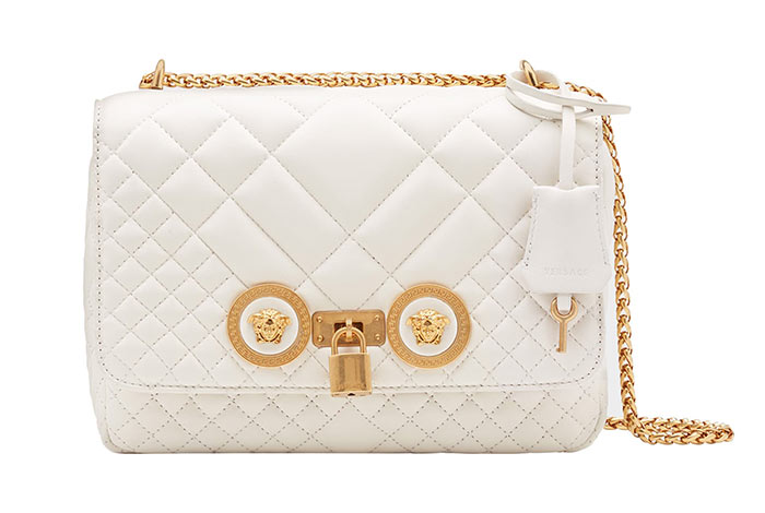 Best Designer White Bags: Versace Medium Icon Quilted White Purse